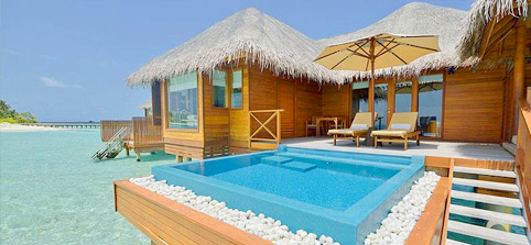 Maldives Water Villas - Lagoon Bungalow With Pool at Huvafen Fushi Maldives