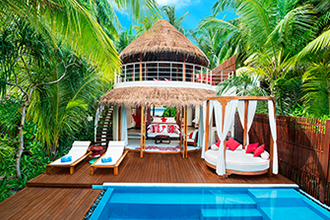 Book a Wonderful Beach Oasis and get an upgrade to Fabulous Overwater Oasis