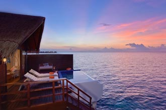 Book the best of the over water villas for as low as USD 1900