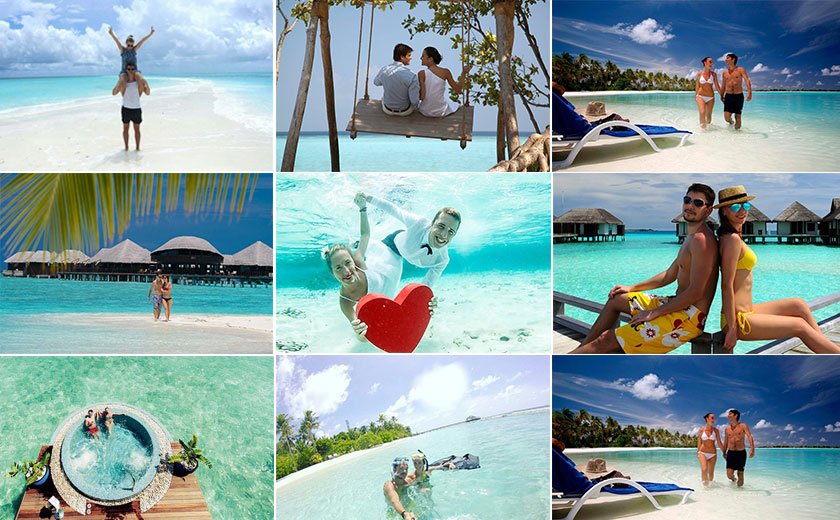 Honeymooners in Maldives