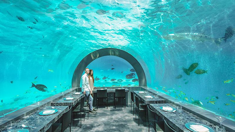 Underwater luxuries in the exotic holiday destination, Maldives