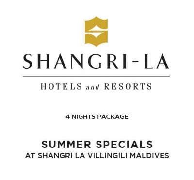 SUMMER SPECIALS AT SHANGRI LA VILLINGILI MALDIVES