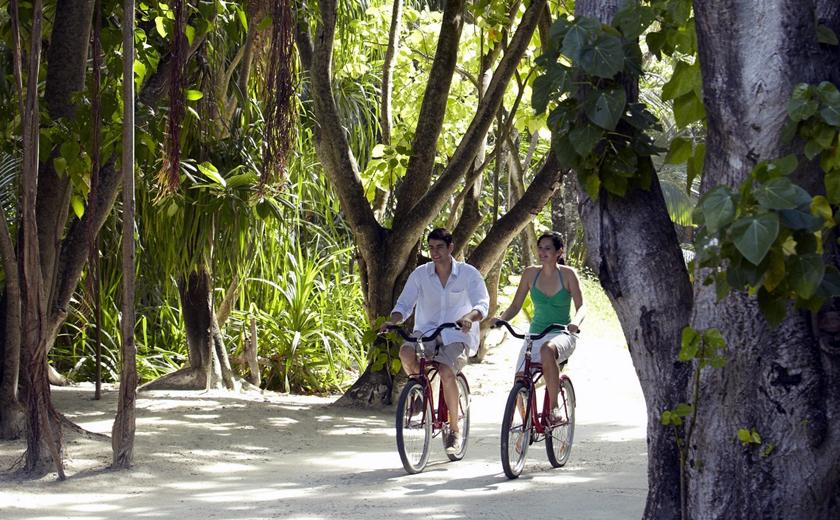 Biking around Shangri la