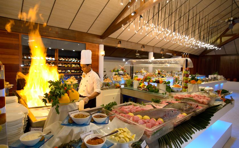 Dining at Lily Beach Maldives