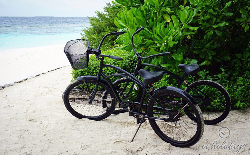 Each guest receives a bike during their stay at the resort