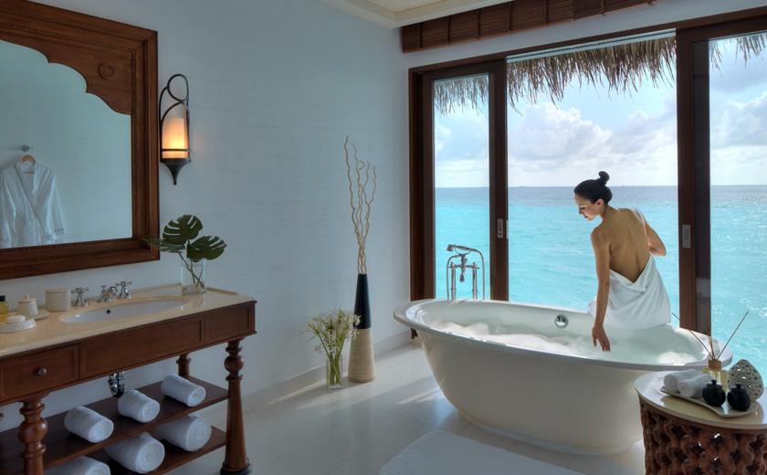 Water villa at The Residence Maldives